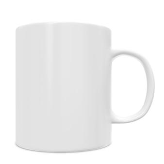 Nahaufnahme auf blank white cup isoliert