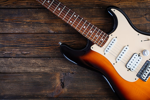 Nahaufnahme auf e-gitarre