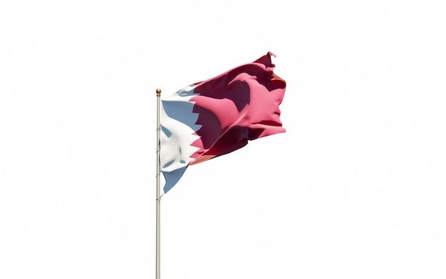 Nahaufnahme auf isolierte nationalflaggenwiedergabe