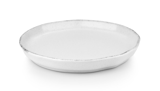 Nahaufnahme auf keramikplatte isoliert