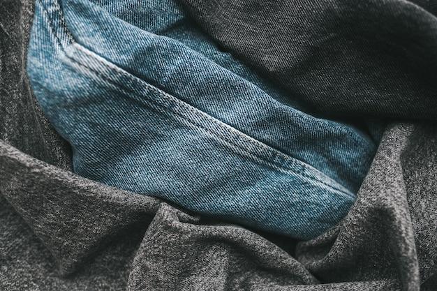 Nahaufnahme auf verschiedenen farben der jeans