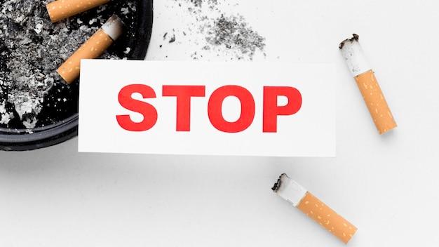 Nahaufnahme aufhören zu rauchen