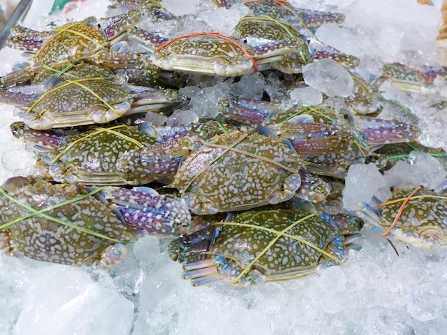 Nahaufnahme blume krabbe auf dem markt