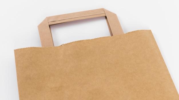 Nahaufnahme braune papier einkaufstasche