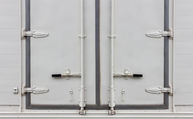 Nahaufnahme containertür