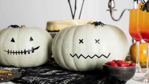 Nahaufnahme dekorationen für halloween