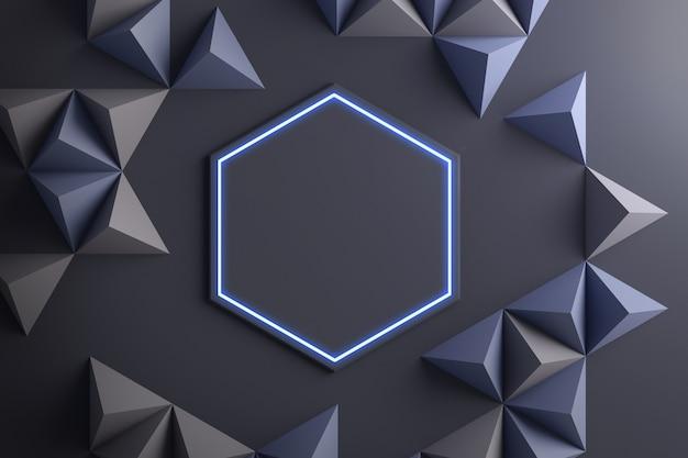 Nahaufnahme der abstrakten 3d-illustration der geometrischen formen