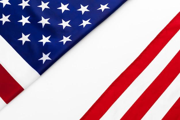 Nahaufnahme der amerikanischen flagge usa auf ebene