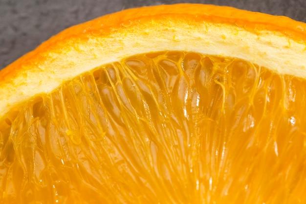 Nahaufnahme der frischen orange masse