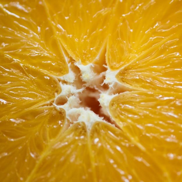 Nahaufnahme der frischen orange scheibe
