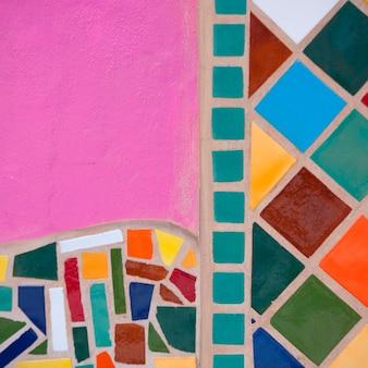 Nahaufnahme der gemalten wand, sayulita, nayarit, mexiko