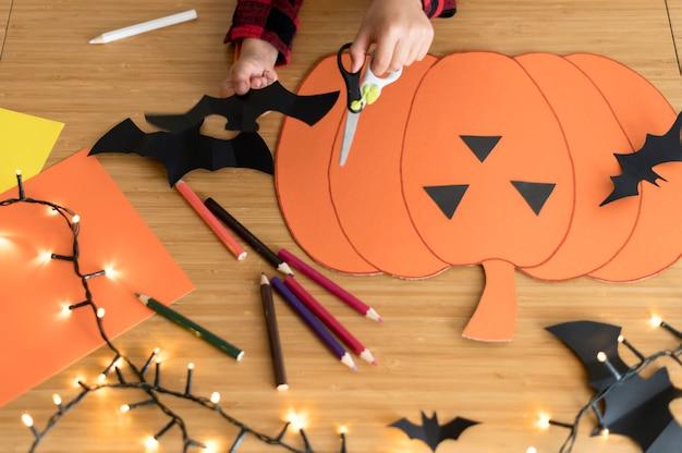 Nahaufnahme der halloween-anordnung