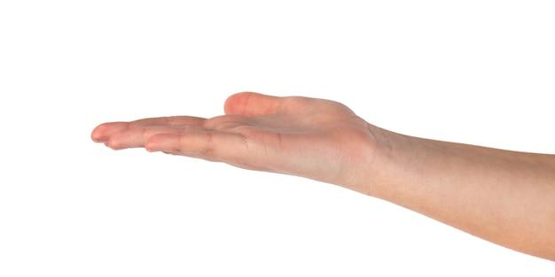 Nahaufnahme der hand der schönen frau