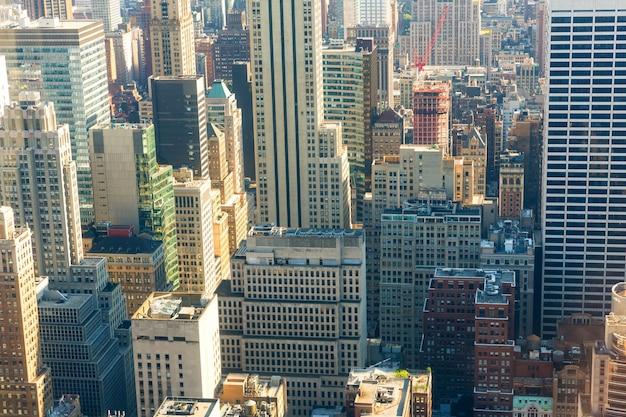 Nahaufnahme der innenstadt von new york city