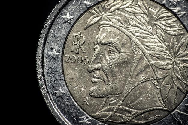 Nahaufnahme der italienischen euro-münze