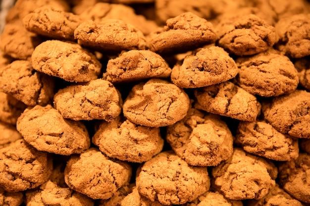 Nahaufnahme der kekse im laden in paris, frankreich