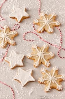 Nahaufnahme der köstlichen kekse