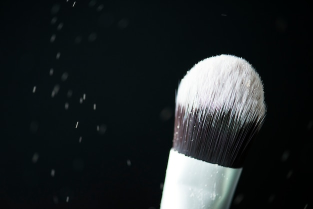 Nahaufnahme der kosmetik erröten