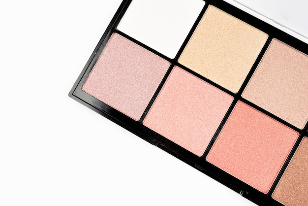 Nahaufnahme der make-up-palette