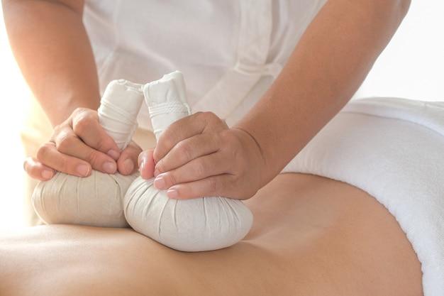 Nahaufnahme der massage