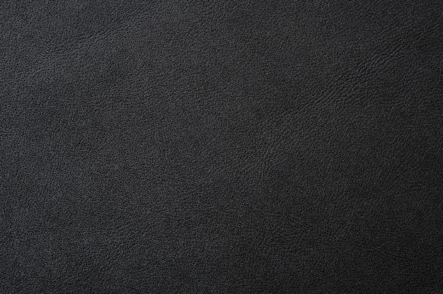 Nahaufnahme der nahtlosen schwarzen lederbeschaffenheit für hintergrund