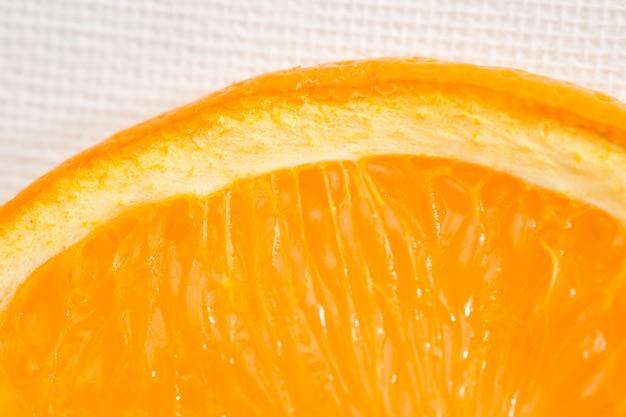 Nahaufnahme der orange saftigen masse