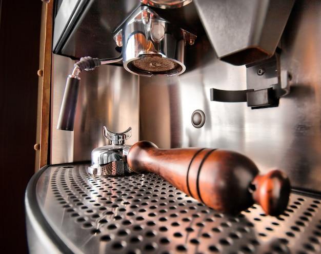 Nahaufnahme der retro-kaffeemaschine