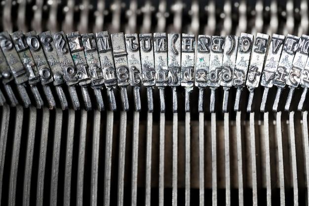 Nahaufnahme der retro-stil schreibmaschine