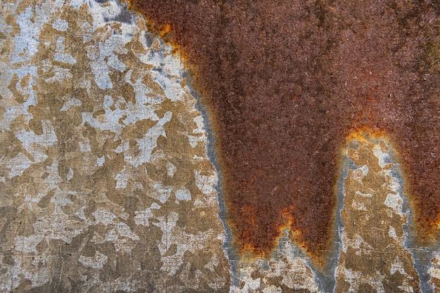 Nahaufnahme der rostigen metalloberfläche