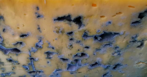 Nahaufnahme der schimmeligen käsetextur