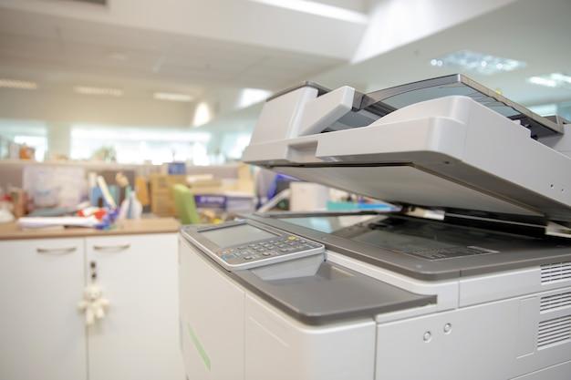 Nahaufnahme der unteren abdeckung des fotokopierers oder des xerox-druckers