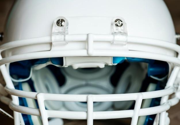 Nahaufnahme des amerikanischen football-helms
