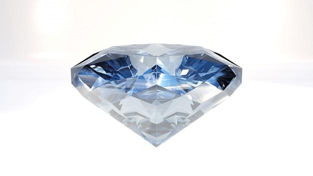 Nahaufnahme des blauen diamanten