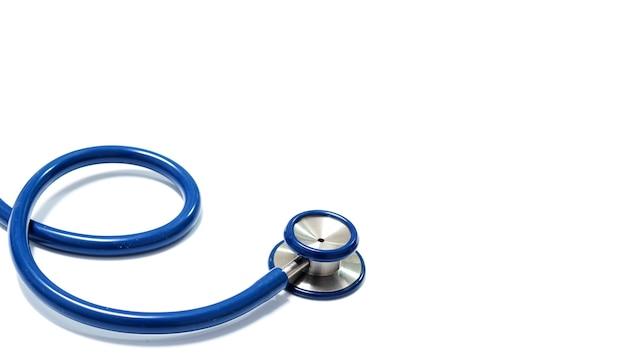 Nahaufnahme des blauen stethoskop