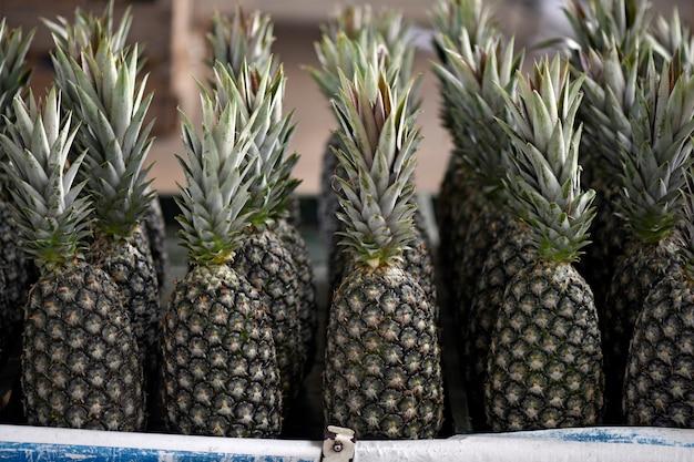 Nahaufnahme des bündels ananas