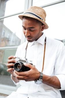 Nahaufnahme des fotografen die straße