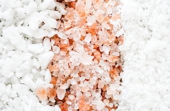 Nahaufnahme des gemischten Salzes