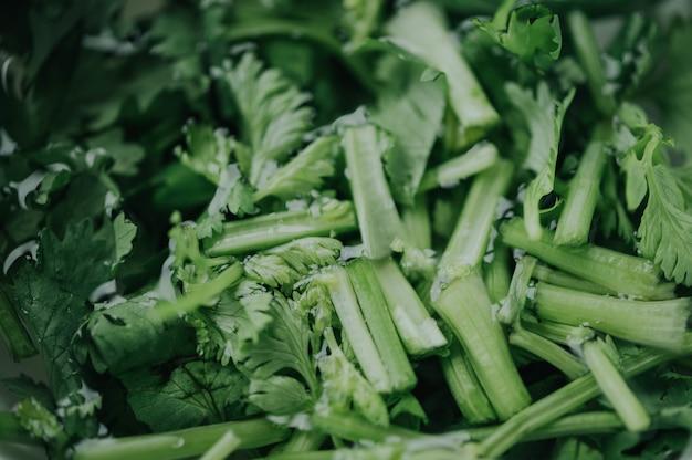 Nahaufnahme des grünen gemüses