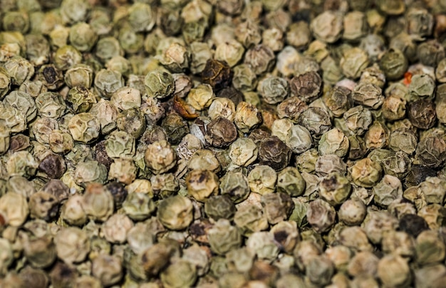 Nahaufnahme des grünen paprikas am markt