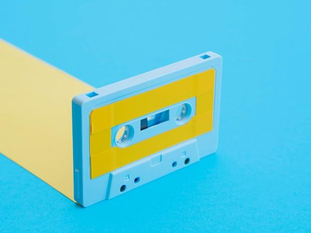 Nahaufnahme des kassettenmusikkonzepts