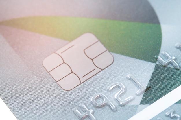 Nahaufnahme des kreditkartenhintergrundes.