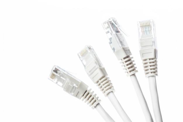 Nahaufnahme des netzwerkkabels