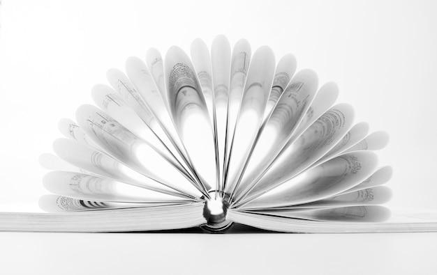 Nahaufnahme des offenen geschäftskatalogs mit ringbuch