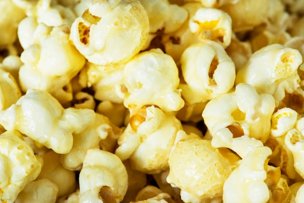 Nahaufnahme des popcorns