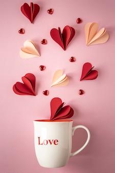 Nahaufnahme des schönen valentinstagkonzepts