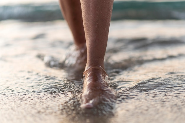 Nahaufnahme des strandkonzepts