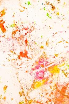 Nahaufnahme des unordentlichen farbigen pulverhintergrundes