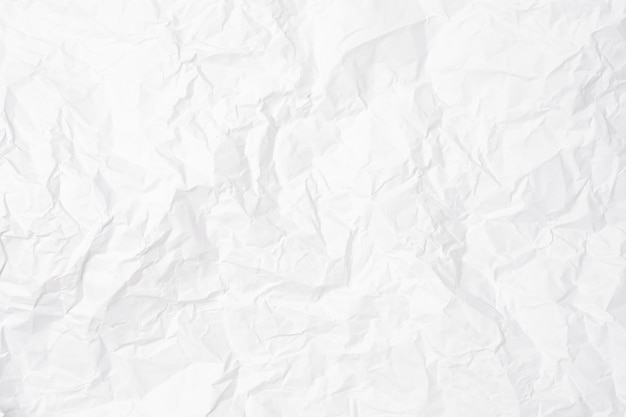 Nahaufnahme des weißen zerknitterten papiers