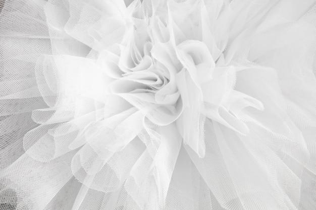 Nahaufnahme detail des ballerina weißen tutu-kleides