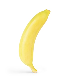 Nahaufnahme einer banane. getrennt auf weiß.